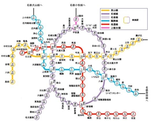 名城線 路線図