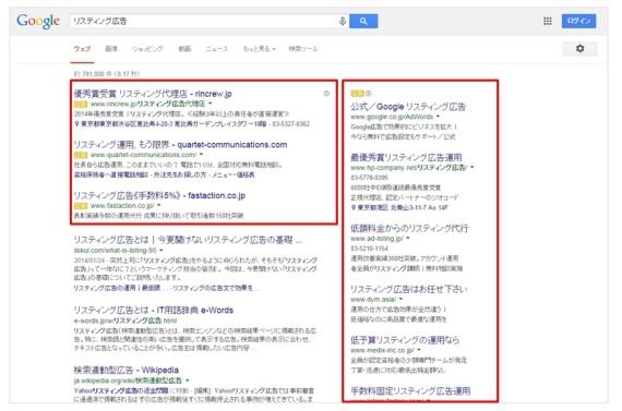 リスティング google Google AdWords