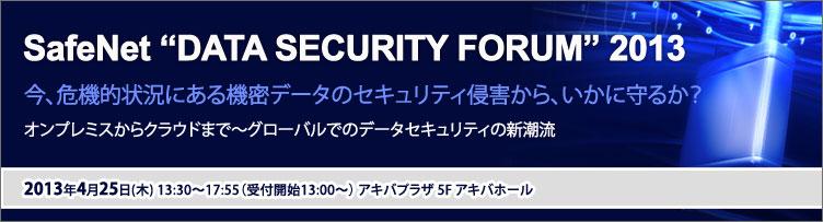 SafeNet DATA SECURITY FORUM  2013